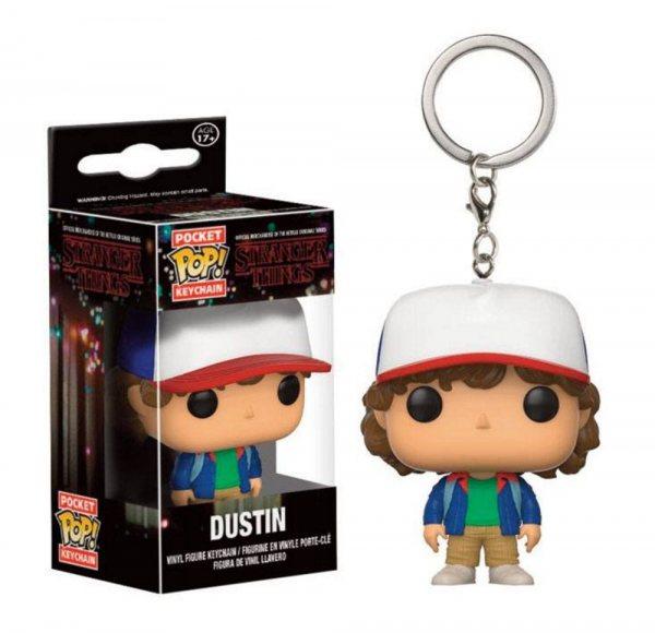 Stranger Things Dustin Funko Pop Schlüsselanhänger