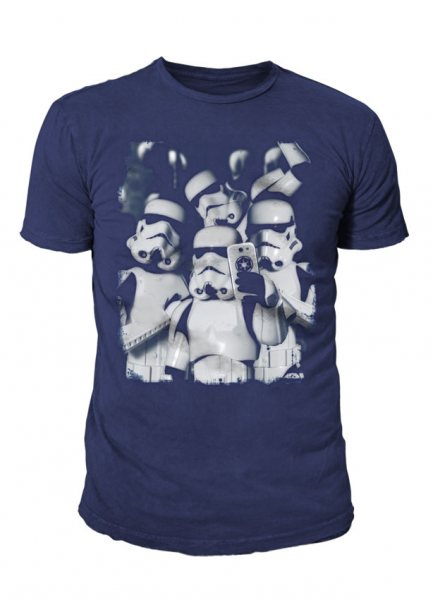 Star Wars - Krieg der Sterne Herren T-Shirt - Troopers Selfie