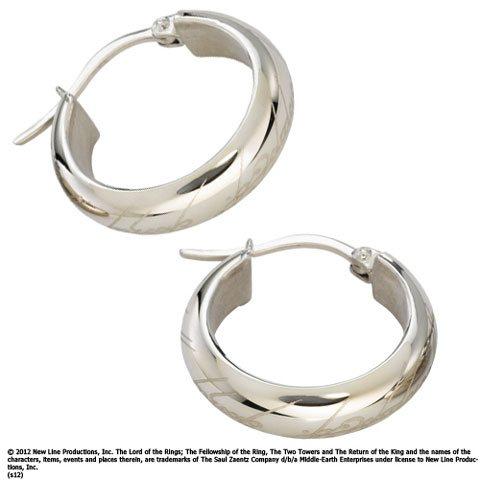 Herr der Ringe Der Eine Ring Damen Ohrringe Replik Schmuckbox