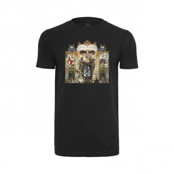 Merchcode Michael Jackson Dangerous Damen T-Shirt Schwarz