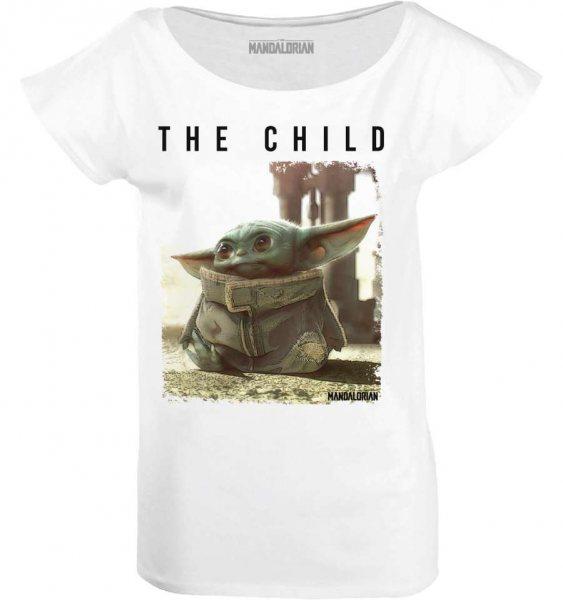 Star Wars The Mandalorian Baby Yoda Child Damen T-Shirt Weiss