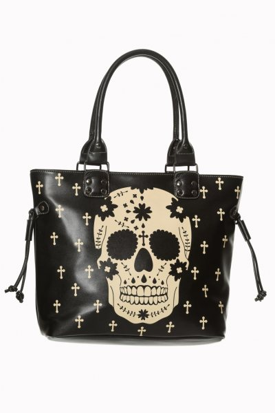 Banned Tattoo Skull Damen Shopper Handtasche