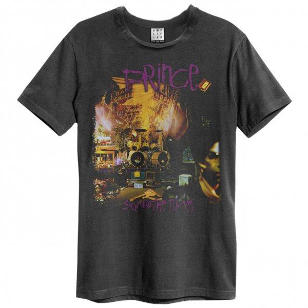 Prince Sign of the Time T-Shirt Herren Grau