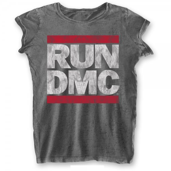 Run DMC Logo T-Shirt Damen