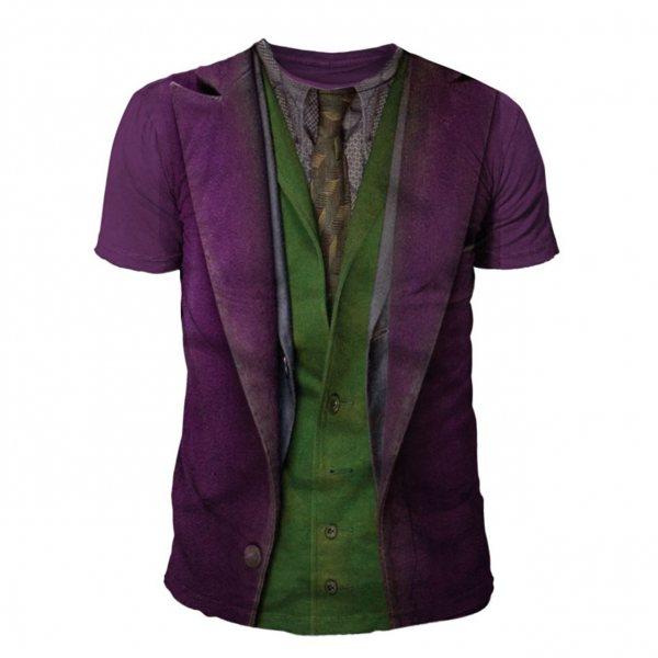Batman Arkham City Joker Suit Herren T-Shirt Lila