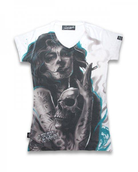 Liquor Brand Verdita Del Muerte Damen T-Shirt