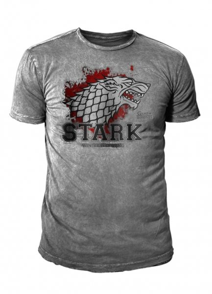 Game of Thrones House Stark Vintage Herren T-Shirt