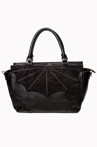 Banned Black Widow Gothic Emo Damen Henkeltasche Handtasche