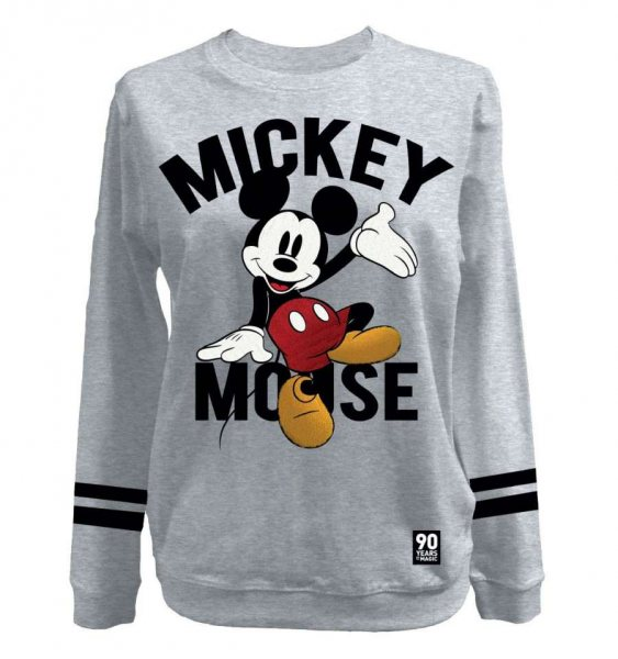 Walt Disney Mickey Mouse Damen Sweater Pullover Grau