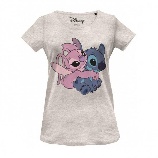 Walt Disney Lilo and Stitch Angel Damen T-Shirt Grau