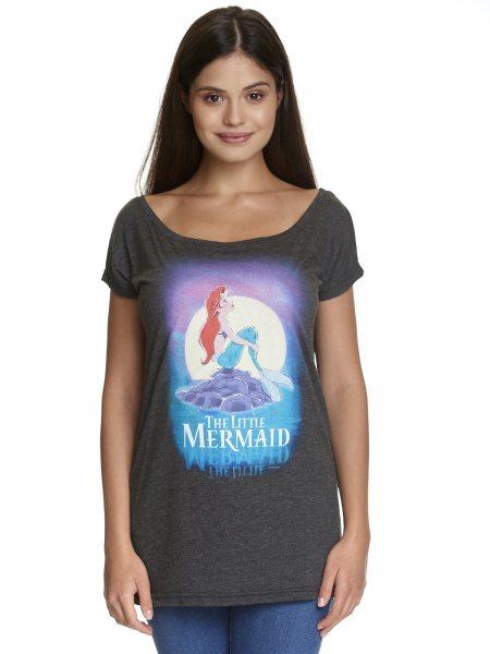 Walt Disney Arielle Little Dreaming Oversize Damen T-Shirt Grau