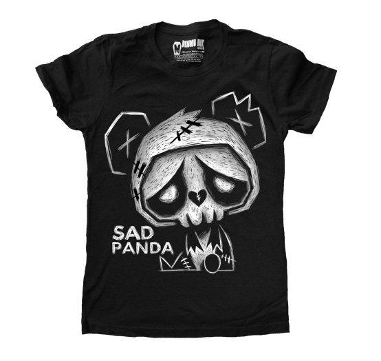 Akumu Ink Sad PandaT-Shirt Damen Schwarz