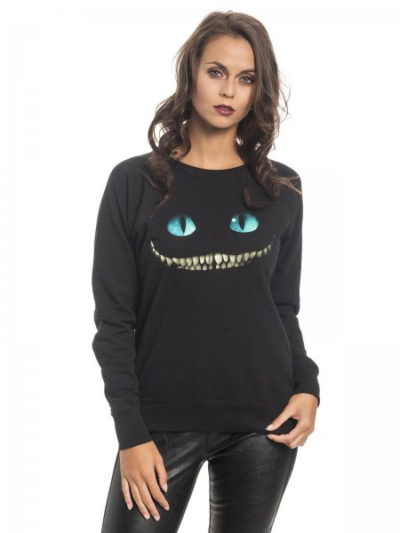 Alice im Wunderland Chesire Cat Pullover Damen