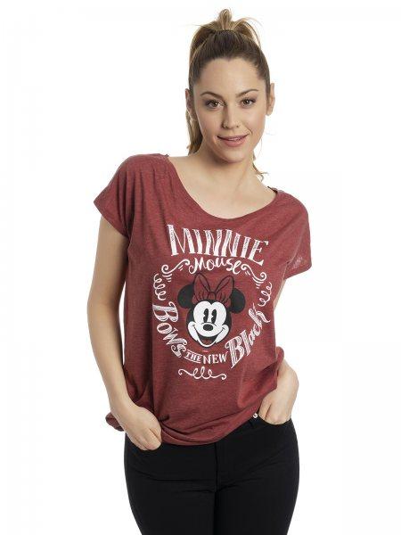 Walt Disney Minnie Mouse Oversize Damen T-Shirt Rot