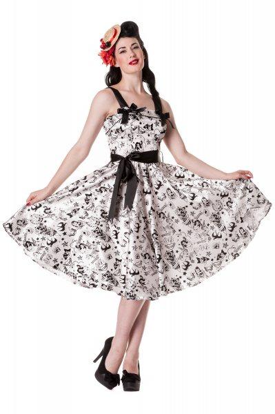 Hell Bunny - Tattoo Flock 50s Damen Kleid (W/S)