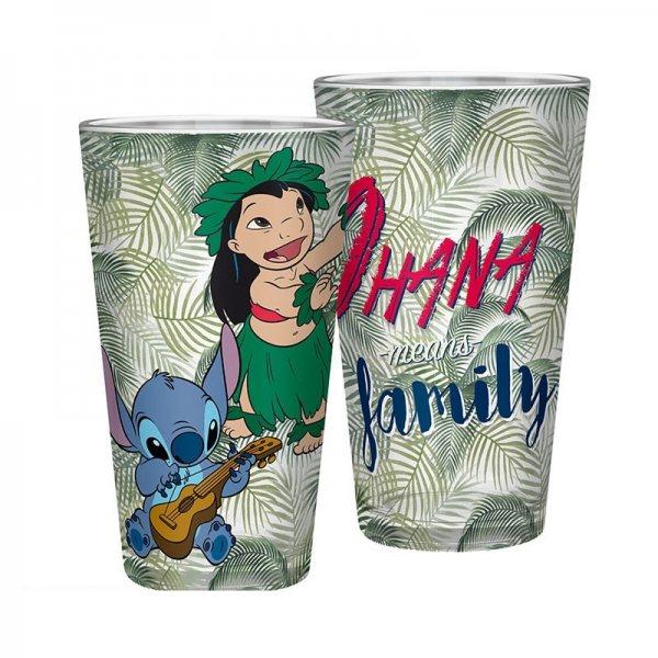 Lilo & Stitch Ohana Metallic Trinkglas Glas 400 ml