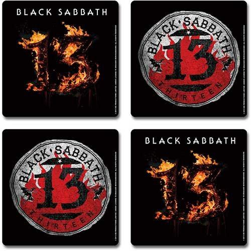 Black Sabbath 13 Untersetzer Set