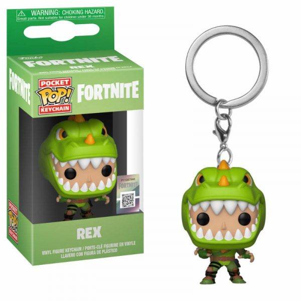 Fortnite Rex Funko Pop Schlüsselanhänger