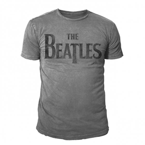 The Beatles Logo Burnout Herren T-Shirt Grau