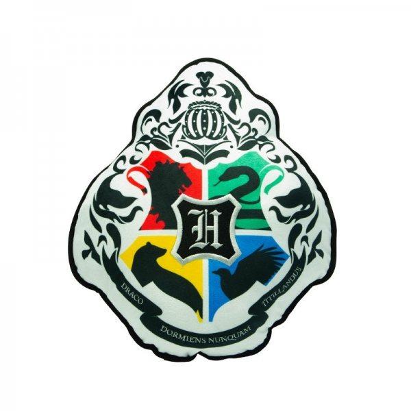 Harry Potter Hogwarts Schullogo Kissen Fleece