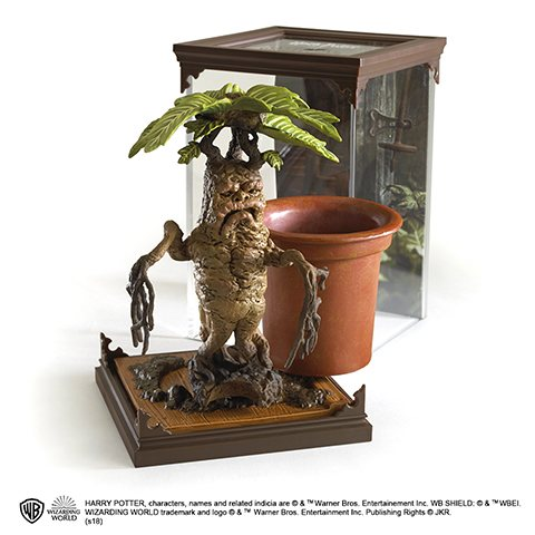 Harry Potter Mandrake Alraunen Statue Figur Noble Collection
