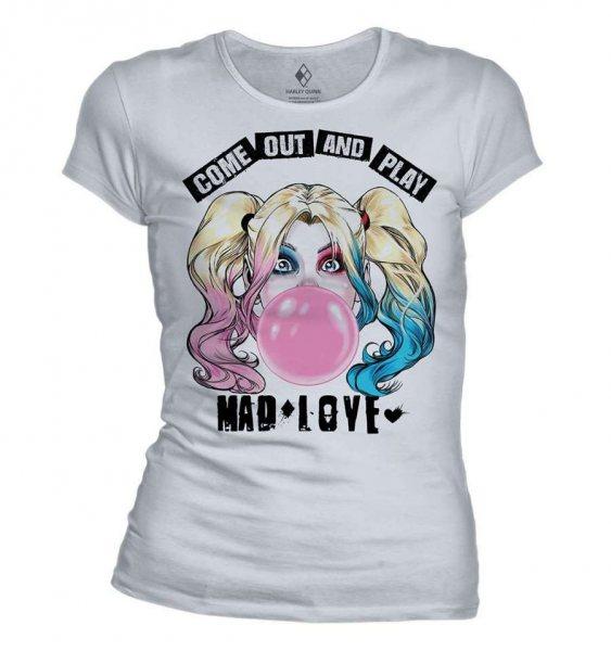 Harley Quinn Mad Love Damen T-Shirt Weiss