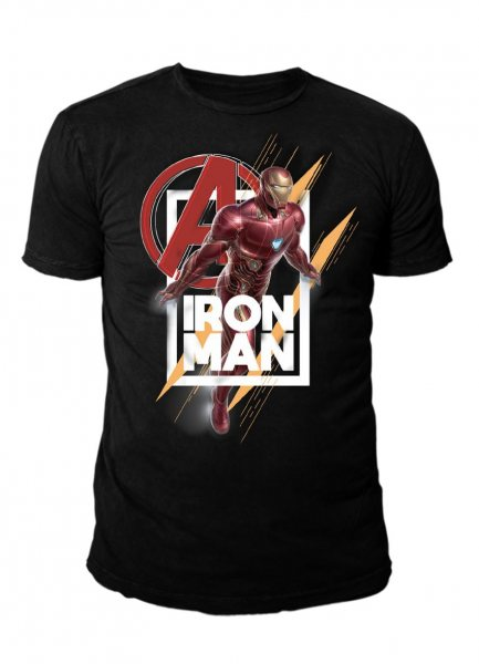 Marvel Avengers Iron Man Herren Lizenz T-Shirt