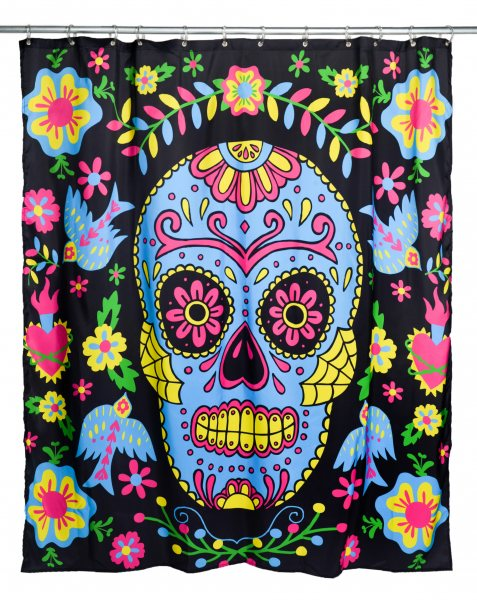 Too Fast Brand - Mexican Embroidery Duschvorhang