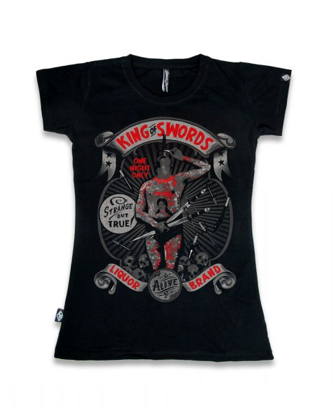 Liquor Brand King of Sword Damen Tattoo T-Shirt