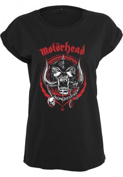 Merchcode Motörhead England Damen T-Shirt Schwarz