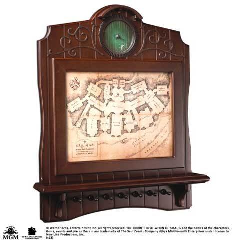 Der Hobbit Holz Schlüsselbrett Karte von Beutelsend