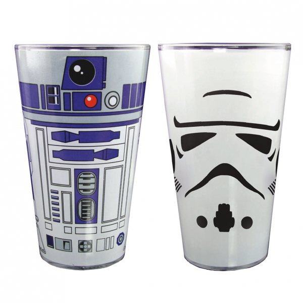 Star Wars - Big Size Trinkgläser 2er Set - R2D2 und Trooper