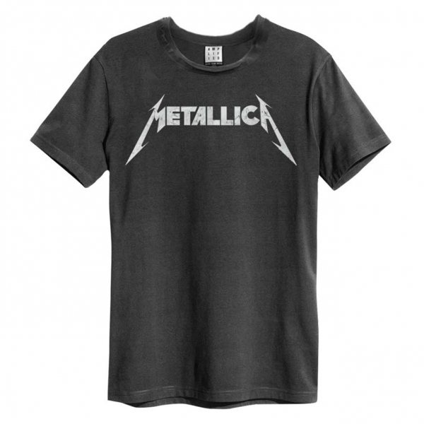 Amplified Metallica Classic Logo T-Shirt Vinytge Herren