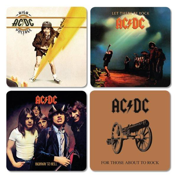 AC DC Cover Untersetzer 4er Set