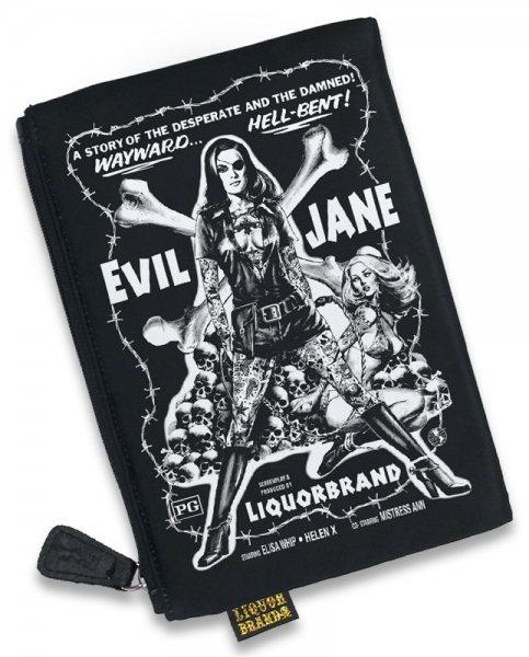 Liquor Brand Evil Jane Pin Up Girl Damen Kosmetik Tasche