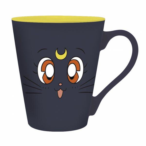 Sailor Moon Luna Katzen Tasse Schwarz im Geschenkkarton 320 ml