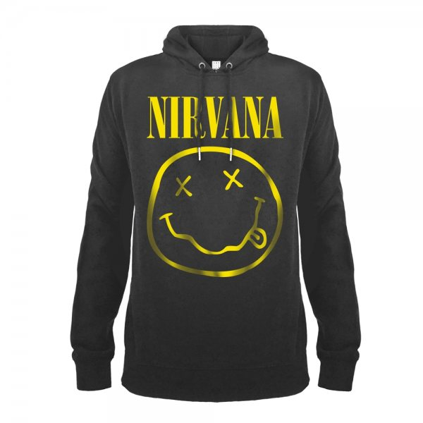 Amplified Nirvana Smiley Logo Herren Kapuzenpullover