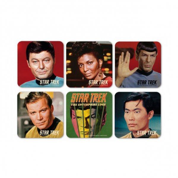 Star Trek Retro Untersetzer Set aus Kork 6er
