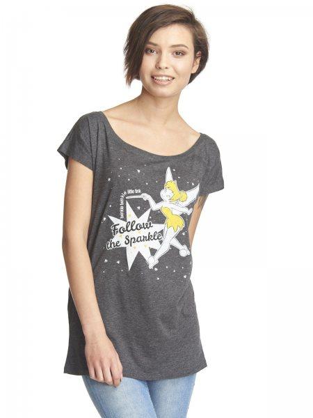 Thinkerbell Follow the Sparkle Walt Disney Damen Oversize Shirt