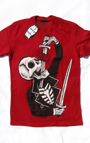 Akumu Ink Skull Sword Herren T-Shirt