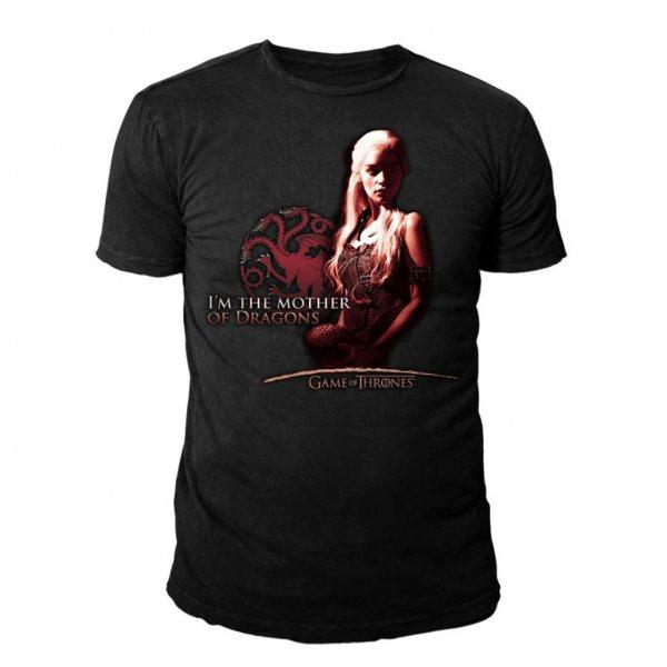 Game of Thrones Mother of Dragon Herren T-Shirt Herren Schwarz