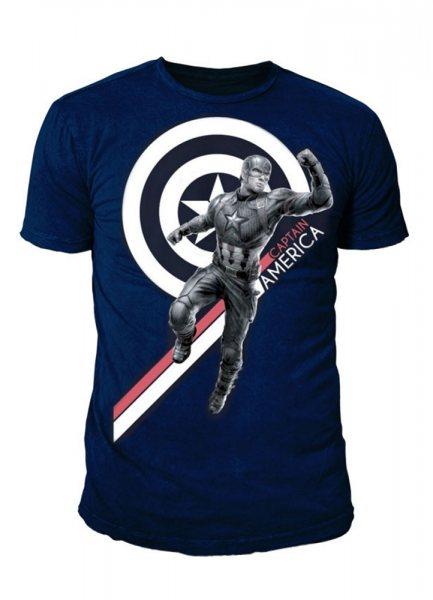 Marvel Captain America Logo Herren T-Shirt