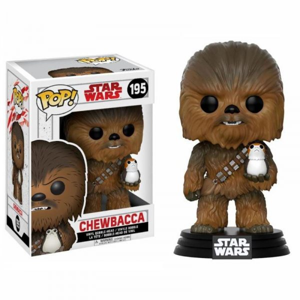 Star Wars Chewbacca Porg Funko Pop Vinyl Figur 195