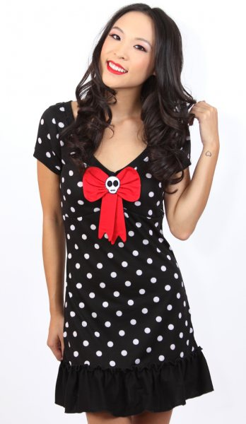 Jessica Louise Dots & Bow Pin Up Damen Kleid