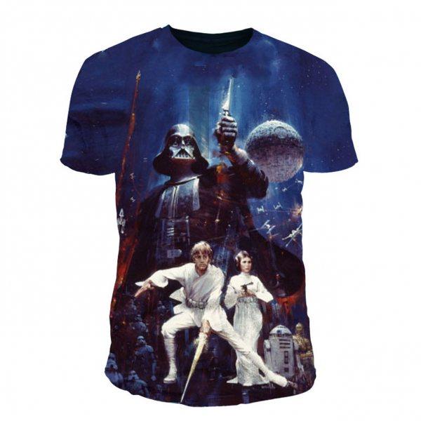 Star Wars New Hope Poster Herren T-Shirt Multicolor