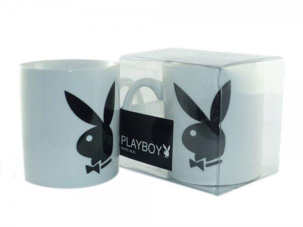 Playboy - Classic Tasse Geschenktasse - Weiss