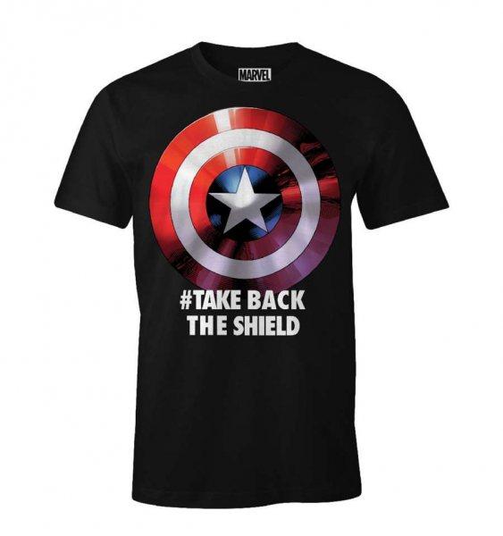 Captain America - Take Back the Shield Herren T-Shirt