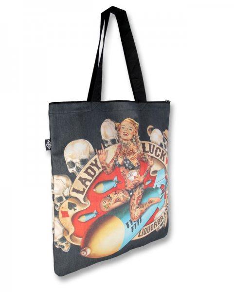 Liquor Brand Lady Luck Shopper Tasche