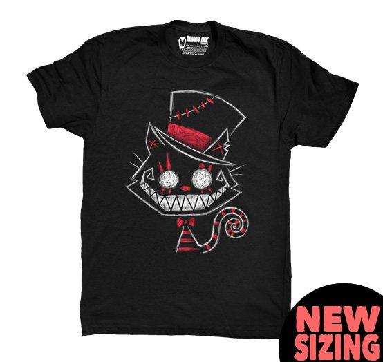 Akumu Ink Chesire Cat Herren T-Shirt Schwarz