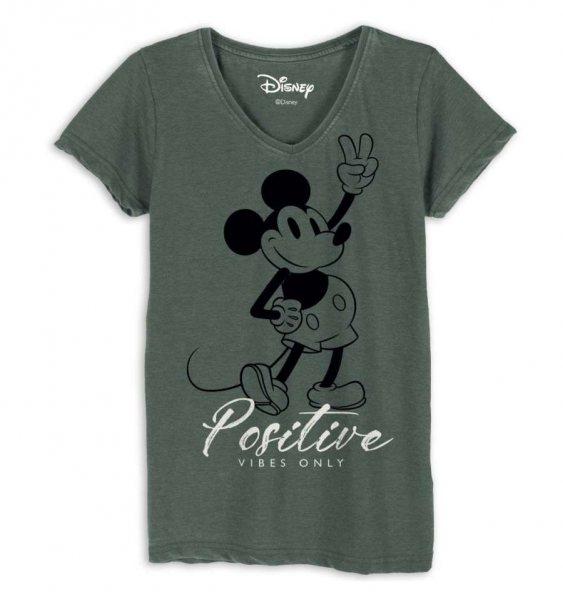 Walt Disney Mickey Mouse Positive Vibes Damen T-Shirt
